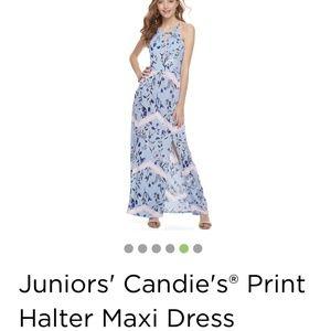 Candies brand printed halter maxi dress
